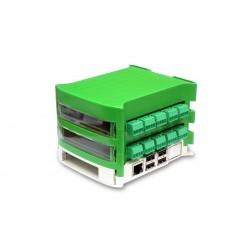 Set 1, Raspberry Pi 2 + karta PiDi_3805 + 4x modul pre externé meniče + karta PiDi_3809 + všetky krabičky